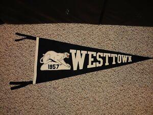 Vintage 50's 1957 Westtown School Wool Felt Pennant,West Chester,Pennsylvania
