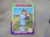 1975 TOPPS #228 GEORGE BRETT KANSAS CITY ROYALS VINTAGE BASEBALL CARD RC ROOKIE
