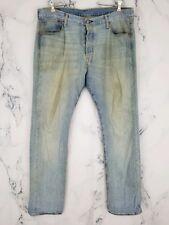 Vtg Men's Levi's 501 USA Original Button Fly Light Wash Jeans Tag Size 36 x 34