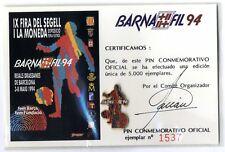Pin Oficial  Barnafil 1994 FC Barcelona Barça Futbol certificado football