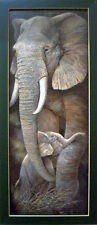 Elephant Baby African Safari Serengeti Art Print Framed