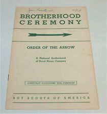 BSA - OA…BROTHERHOOD CEREMONY…1954 PRINTING