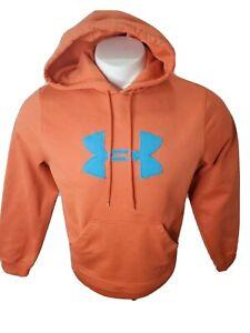 Under Armour Men's Hooded Pullover Sweatshirt Sz. S Orange