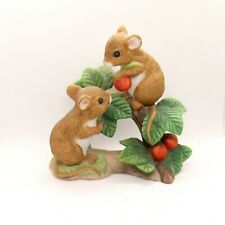 Home Interiors Ceramic 1443 Tiny Tales Mouse Figurine D5A1