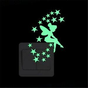 Cartoon Luminous Switch Sticker Glow In The Dark Wall Stickers Home Decor Kids