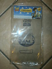 TOY STORY CLASSIC BROWN SCHOOL LUNCH BAGS Sheriff Woody Buzz Lightyear Party NIP
