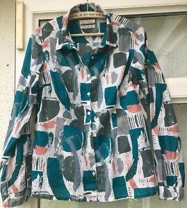 Pretty SEASALT  LARISSA  SHIRT Long Sleeve Blouse Shirt Top Size 10