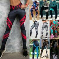 Womens Ruched Push Up Leggings Anti-Cellulite Yoga Pants Scrunch Sports Trousers