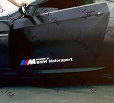 Une paire de voiture Porte Côté Corps Sticker Autocollants Graphique Bandes Pour BMW ( WHITE )