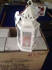 Victorian Style White Lantern Candle Wedding Centerpiece