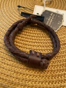 RRL ralph Lauren Leather Woven Bracelet NWT Brown | Polo Rugby |
