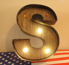 Studio Decor - Metal S Letter with Lights -  Industrial Design. New with labels.