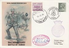 RM9d 90th Anniversary Battle of Tamall Signed Lt.Cdr. Bellom, Defence Attache, K