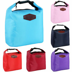 Kids Adult Thermal Insulated Lunch Bag Cool Food Storage School Picnic Carry BkY
