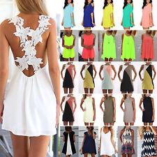 BOHO Damen Sommerkleid Partykleid Minikleid Tunika Longshirt Bluse Top Kleidung