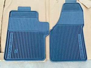 OEM NEW 99 - 10 Ford Super Duty All Weather Floor Mats Rubber Black REGULAR CAB