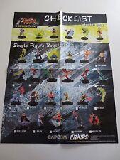 Street Fighter Heroclix Checklist 2011 Poster Capcom Wizkids 22 x 17 in. (PG319)