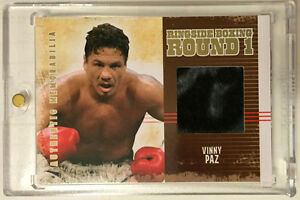 Vinny Paz 2010 Ringside Boxing Round One 1 GOLD Fight-Worn Robe Patch #'d 9/10