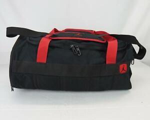 Air Jordan Shoulder Strap Travel Duffle Bag Black & Red