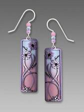 Adajio Earrings Pink Blue Ombre Column Lavender Daisies Overlay Handmade in USA