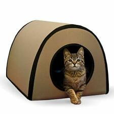 """New listing K&H Pet Products Mod Thermo-Kitty Heated Shelter Tan 21"""" x 14"""" x 13"""" 25W Grea."""