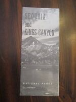 Sequoia & Kings Canyon Nationals Park California Tourist Pamphlet Brochure 1963