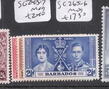 Barbados Coronation SG 245-7 MOG (10dni)