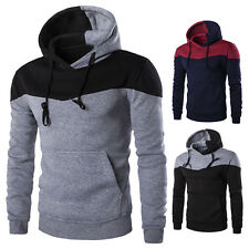 Neuf Mode Homme Coupe Slim Sweat À Capuche Pullover Vestes Manteau Muscle Sweats