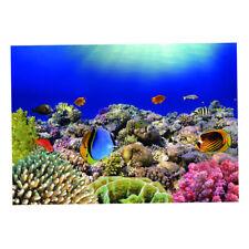 Underwater World Fish Tank Background Aquarium Sticker Wall Paper 122x46cm