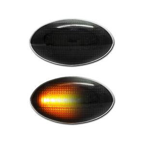 SCHWARZE dynamische LED Seitenblinker BMW Mini Cooper S JCW Cabrio R50 R52 R53