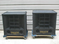 """RARE Pair of Tannoy Panther Loudspeaker Cabinets w/ 15"""" Dual Concentric Speakers"""