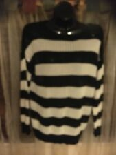 Ladies Black And White Striped SUPRE Jumper.. Sz Small..