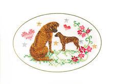Rhodesian Ridgeback Birthday Card Embroidered by Dogmania
