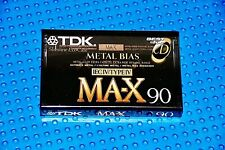 TDK  MA-X    90    BLANK CASSETTE TAPE (1) (SEALED)