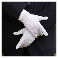 1 Pair Mens White Formal Gloves Tuxedo Honor Guard Parade Santa Inspection