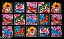 15 BEAUTIFUL BUTTERFLIES & FLOWERS PANELS FOR QUILTS HOME DECOR & OTHER PROJECT