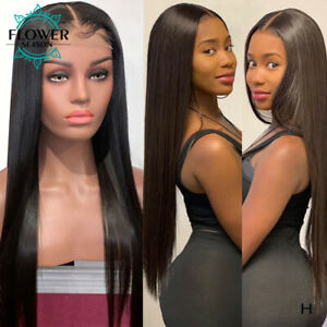 Pre Plucked Silky Straight Peruvian Hair Full Lace Human Hair Wig With Baby Hair