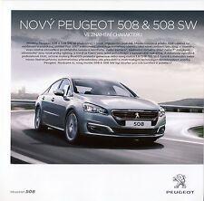 Peugeot 508 09 / 2014 catalogue brochure tcheque Czech rare