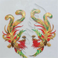 1Pair Fashion Chinese Embroidered Phoenix Patches  Embroidery Sew Clothes Decor