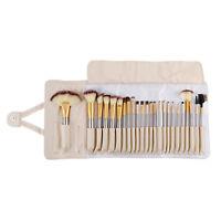 24pcs Pro Makeup Brushes Cosmetic Tool Kit  Eyebrow Shadow Powder Brush Set Bag