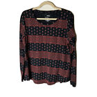 Sonoma Women's Top Size Large Everyday Tee Long Sleeves Cotton Blend Casual