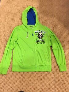 Boys Hockey Graphic Hooded Sweatshirt Green Size 10