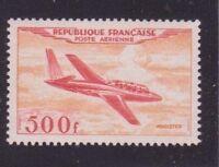 "FRANCE  YVERT AIR POST 32 SCOTT C 31 "" PLANE MAGISTER 500F 1954 "" MNH VVF  B411A"
