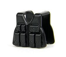 Black Vest V3 (W39) Tactical Army Vest Compatible with toy brick minifigure SWAT