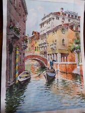 Aquarelle originale de Venise. Acquerello Venezia.