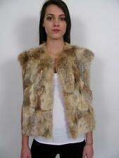 SPEISER CANADA GENUINE COYOTE WOLF FUR SOFT LUSH PERFECT VEST JACKET COAT~S/M