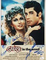 "~ GREASE Cast x7 Authentic Hand-Signed ""John Travolta"" 11x14 Photo (JSA COA)~"