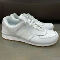 New Balance 574 White Gum Leather Sneaker Men's Size 17 2E Wide