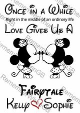 Personalised Disney Lesbian Couples Valentines Anniversary Wedding Gift Same Day