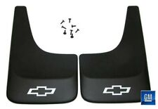 Equinox Trailblazer Black Contoured Mud Flaps W/ Logo NEW GENUINE GM PAIR 391